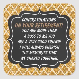 Congratulations Boss retirement sticker fun