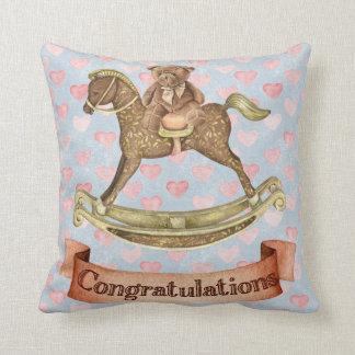 Congratulations-Boy Baby Shower Throw Pillow