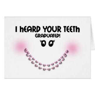 Congratulations Braces Off - Teeth Graduated Brace Card