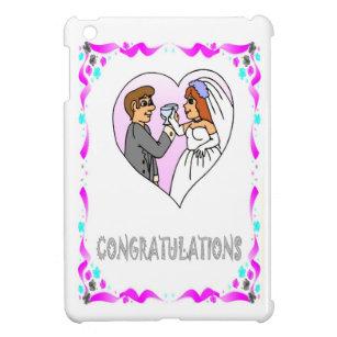 congratulations bride and groom cover for the ipad mini