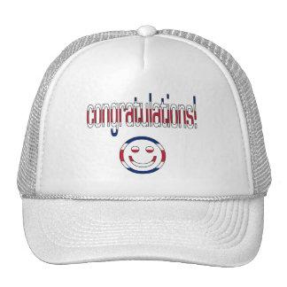 Congratulations! Britain Flag Colors Trucker Hats