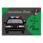 Congratulations, Brother, Police Officer Card