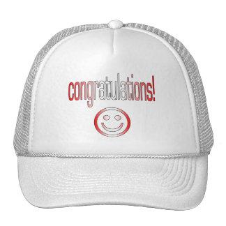 Congratulations! Canada Flag Colors Hats