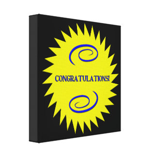 Congratulations Canvas Prints