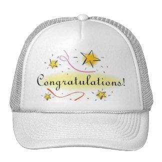 congratulations cap mesh hats