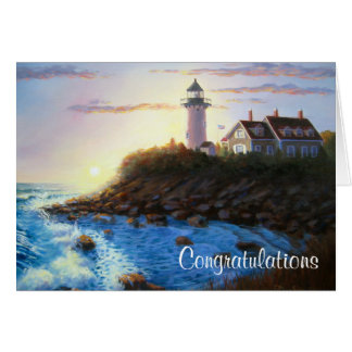 Congratulations Cape Cod MASS Lighthouse Card