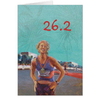 Congratulations Card for Marathoner - 26.2