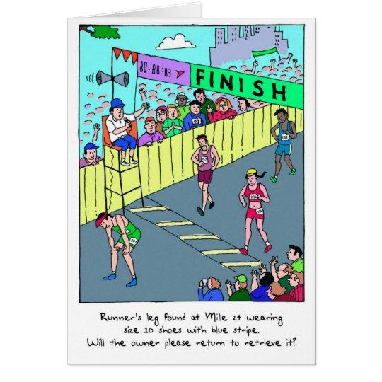 Congratulations Card for Marathoner - Runner's Leg