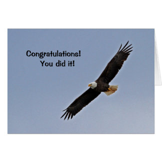 Congratulations Card with Eagle