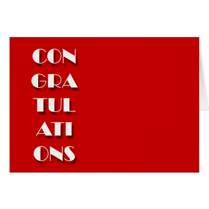 Congratulations cards - customise background