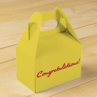 Congratulations Casual Red Script Party Favour Box