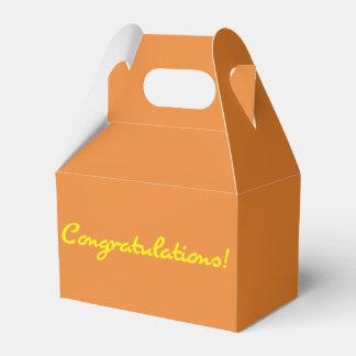 Congratulations Casual Yellow Script Party Favour Boxes
