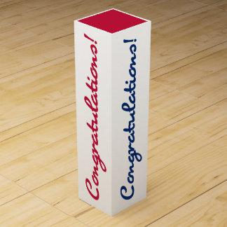 Congratulations Celebrate Red White Blue Gift Box