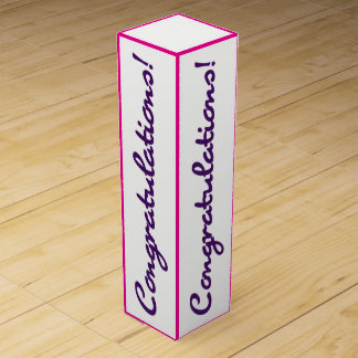 Congratulations Celebration Purple Pink Gift Box
