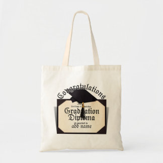Congratulations! Certificate of Completion Diploma Tote Bags