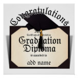 Congratulations! Certificate of Completion Diploma Posters