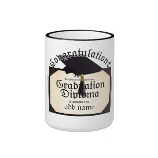 Congratulations! Certificate of Completion Diploma Ringer Mug
