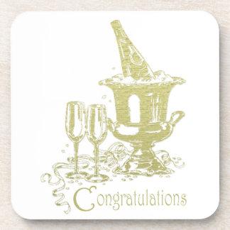 Congratulations Champagne Art Coasters