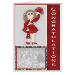 Congratulations Cheerleader Personalised Greeting Card