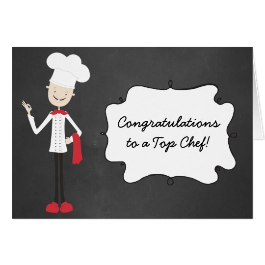Congratulations Chef Cook Graduation Greeting Card