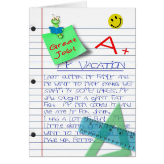 CONGRATULATIONS - CHILD - GRADES - PROJECTS GREETING CARD