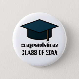 Congratulations Class of  2017 Graduation Button