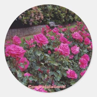 Congratulations! Classic Round Sticker