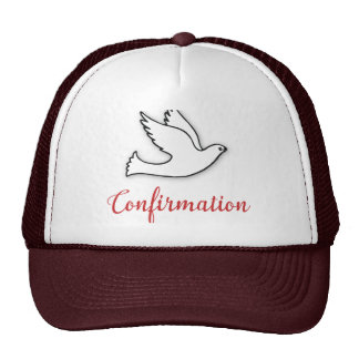 Congratulations Confirmation Dove with Gold, Red Cap