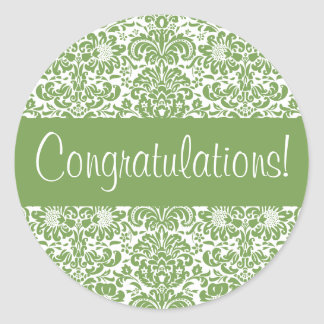 Congratulations Damask Envelope Seal