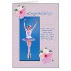 Congratulations, Dance Recital Card
