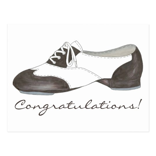 Congratulations Dance Recital Tap Shoe Tapdance Postcard
