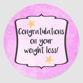 Congratulations Diet Fitness Slimming Club Planner Round Sticker
