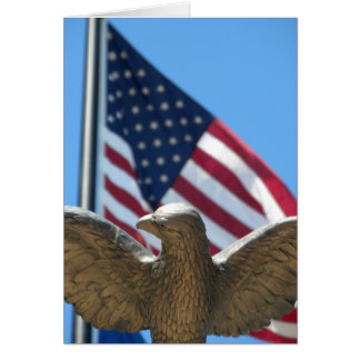 Congratulations: Eagle & Flag Card