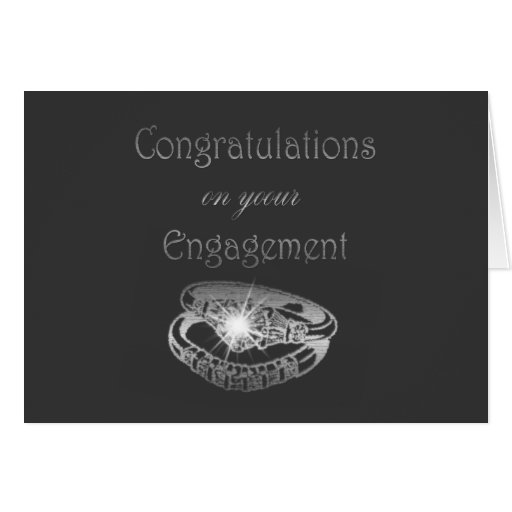 Congratulations Engagement Rings Art Cards