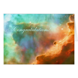 Congratulations, enlarged area of The Omega Nebula Greeting Card