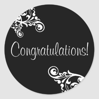 Congratulations Flourish Envelope Sticker Seal