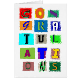 Congratulations for any occasion greeting card