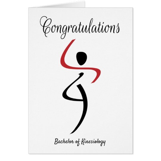 Congratulations for Bachelor of Kinesiology Card