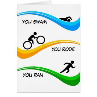 Congratulations for finishing a Triathlon Cards