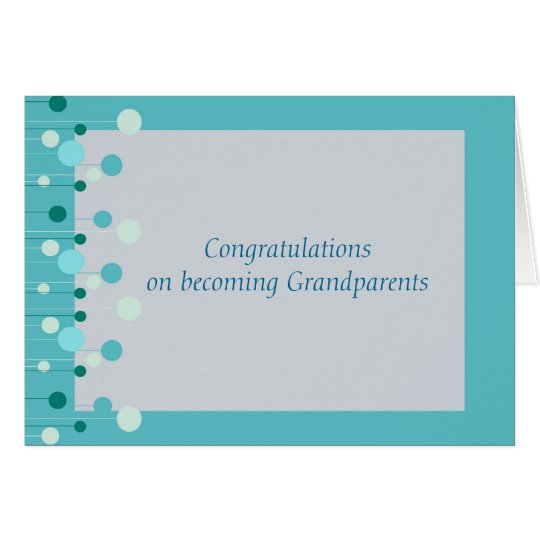 Congratulations for Grandparents in blue Card