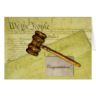 Congratulations for Lawyer, Judge, or Attorney Greeting Card