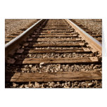 Congratulations for Staying on Railroad Track Greeting Card