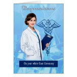 Congratulations for White Coat Ceremony Note Card