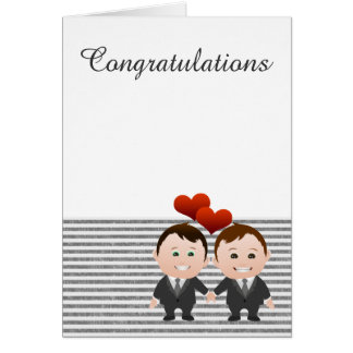 Congratulations Gay Themed Wedding Greeting Card