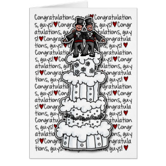 Congratulations - Gay Wedding Couple Greeting Card