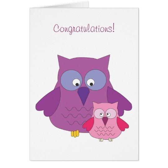 Congratulations! Girl 5x7 Card