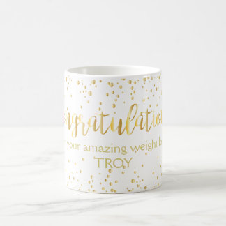 Congratulations Gold Diet Weight Loss Fitness Coffee Mug