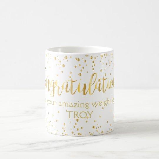 Congratulations Gold Diet Weight Loss Fitness Coffee Mug