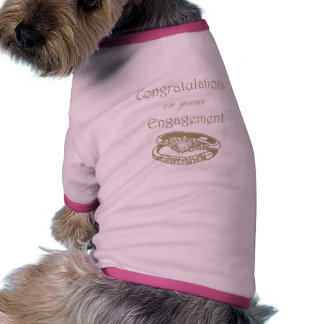Congratulations Gold Engagement Rings Dog Clothing