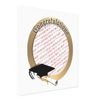 'Congratulations' Gold Graduation  Photo Frame Canvas Prints